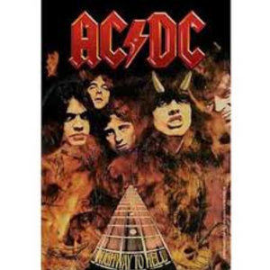 acdc ac dc highway to hell tapestry wall flag